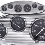 Billet Dash Recessed & Ribbed 6 Gauge Polished