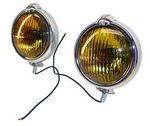 1955-59 Chevrolet Truck Chrome Fog Light w/ Amber Lens - 4""