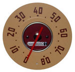 1947-51 GMC Truck Speedometer, Red Needle, 0-80 MPH