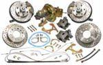 1960-63 CHEVROLET TRUCK COMPLETE FRONT & REAR DISC BRAKE KITS, 5X5 5 LUG