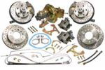 1967-72 CHEVROLET TRUCK COMPLETE FRONT & REAR DISC BRAKE KITS, 6X5.5 6 LUG