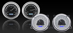 1947-53 Chevrolet / GMC Truck VHX Gauge Kit - Silver Alloy Style Face, Blue Backlight