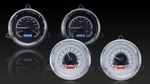 1954-55 1st Series Chevrolet Truck VHX Gauge Kit - Silver Alloy Style Face, Red Backlight