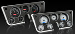 1967-72 Chevrolet Truck VHX Gauge Kit - Carbon Fiber Style Face, Blue Backlight