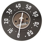 1947-49 Chevrolet Truck Speedometer Gauge, White Needle, 0-80 MPH