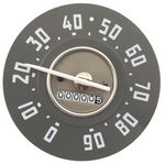 1950-53 Chevrolet Truck Speedometer, White Needle, 0-90 MPH