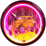 Bitchin Neon Clock with Magenta Neon