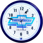 Chevrolet Trucks Neon Clock with White Neon