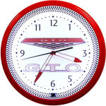 GTO Neon Clock with Red Neon