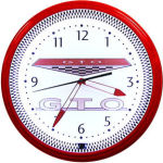 GTO Neon Clock with White Neon