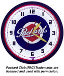 Packard Neon Clock with White Neon