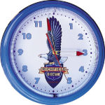 Richfield Octane Neon Clock with Blue Neon