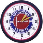 Studebaker Service Neon Clock with White Neon