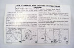 1956 Chevrolet Jack instruction