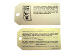 1956-57 Chevrolet Heater instruction tag