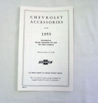 1955 Chevrolet New car retail accesory price booklet