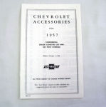1957 Chevrolet New car retail accesory price booklet