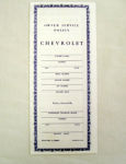 1952-59 Chevrolet Service policy