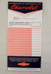 1955-72 Chevrolet Dealer instruction installed accy window sticker
