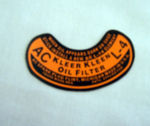 1937-54 Chevrolet Oil filter decal L-4