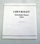 1957 Chevrolet Electric Clock Instruction Folder
