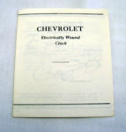 1955-56 Chevrolet Electric Clock Instruction Folder