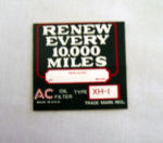 1926-32 Chevrolet Oil filter decal XH-1