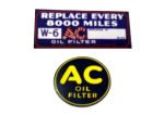 "1940-46 / 1937-46T Chevrolet Oil filter side ""AC"" decal 2"" / 1937-46 ""AC"" oil filter canister decal (trucks)"