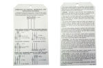 1953-54 Chevrolet Deluxe heater instruction tag