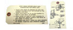 1941-48 Chevrolet Jack instruction tag