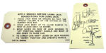 1949-53 Chevrolet Jack instruction tag