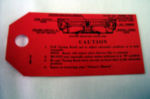1946-48 Ford Radio instruction tag