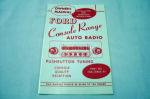 1954 Ford Radio owners manual (Console range)
