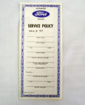 1941-48 Ford Owners manual service policy