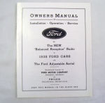 1938 Ford Radio owners manual