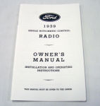 1939 Ford Radio owners manual