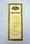 1954-55 Ford Service policy
