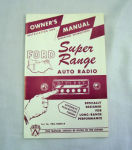 1954 Ford Radio owners manual (Super range)