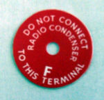 1949-55T Ford 6 volt generator warning tag/Generator warning tag (truck)
