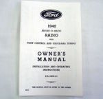1941 Ford Radio owners manual