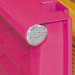 "1940-66 CHEVY BED SIDE HOLE CAP ""BOWTIE"" - POLISHED ALUMINUM"