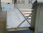 "1947-53 GMC TAILGATE ""GMC"" SCRIPT W/HIDDEN LATCHES & LINKS - STAINLESS, STEPSIDE"