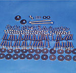 1955-58 CHEVY CAMEO/SUBURBAN BED BOLT KIT - ANGLES/BED STRIPS, HIDDEN FASTENERS,  WOOD W/STANDARD MNTNG -SST UNPOLISHED