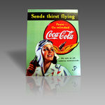 COCA COLA FLYING METAL SIGN