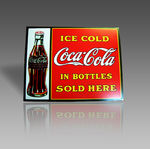 ICE COLD COCA COLA METAL SIGN