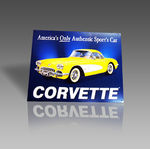 CORVETTE ONLY METAL SIGN