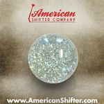 Clear Sparkle Old Skool Shift Knob with Metal Flake