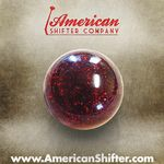 Red Sparkle Old Skool Shift Knob with Metal Flake