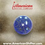 Blue Spider Shift Knob with Metal Flake