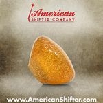 Clear Amber with Sparkle Retro Shift Knob with Metal Flake